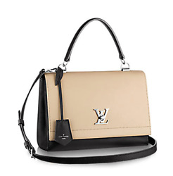 NWT LOUIS VUITTON LOCKE ME II SATCHEL BAG CROSSBODY COLORBLOCK BEIGE BLACK