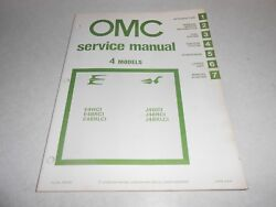 1981 4 Hp Genuine Evinrude Johnson Outboard Repair And Service Manual 4hp