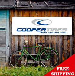Cooper Tires Banner Vinyl Or Canvas Advertising Garage Sign Poster Many Sizes