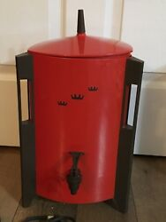 Vintage Coffee Maker Retro Mod Regal Poly Urn Electric 30 Cup Percolator Red Wow