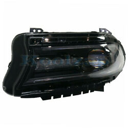 15-17 Charger Front Headlight Headlamp Halogen Head Light Lamp W/led Driver Side