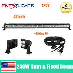 42inch 240w Led Work Light Bar Combo Beam Epistar Fit Off-road Boat Trailer Ford