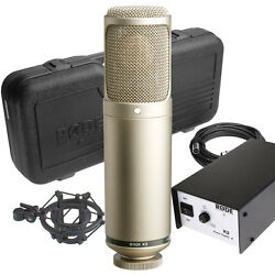 Rode K2 - Variable Pattern Studio Tube Condenser Microphone w Shockmount In Box