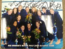 Usa Water Polo 2004 Womenand039s Olympic Team Autograph Photo Bronze Medal Winnner