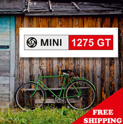 Mini Cooper 1275 Gt Banner Vinyl Or Canvas Advertising Garage Sign Many Sizes