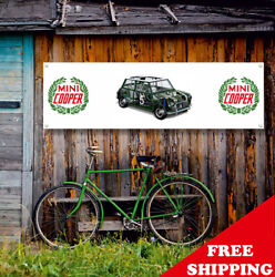 Mini Cooper Banner Vinyl Or Canvas Advertising Garage Sign Poster Many Sizes
