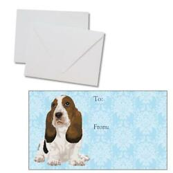 Basset Hound Puppy Dog Holiday Christmas Occasion 250 Gift Tags w Envelopes