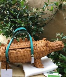 Absolutely Darling! Kate Spade SWAMPED Wicker Alligator Satchel Collector's Bag