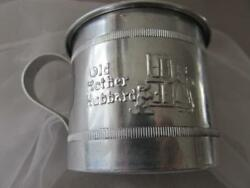 Vintage Nursery Rhyme Baby Cup Old Mother Hubbard The Cow Jumped Over The Moon