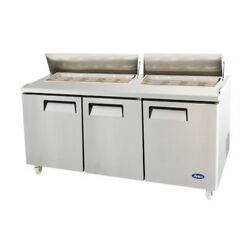 Atosa Msf8304gr Three-section 72 Sandwich Prep Table
