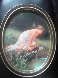 White Rock Beer Tray - Serving Nymph Goddess Fairy Art