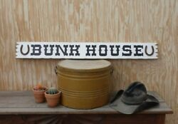 Bunk House/rustic/carved/wood/sign/horseshoes/cowboy/western/cabin/lodge/bedroom