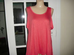 NWT SWELL TEAS BY PINK ROSE ORANGE TANK COLD SHOULDER 5%SPANDEX 95%RAYON SIZE L $16.99