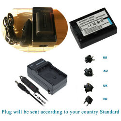 Battery   Home&car Charger for Sony NP-FV50 & Sony DCR-SX43 DCR-SX44 DCR-SX45