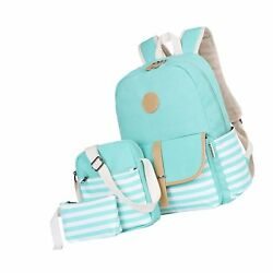 BLUBOON Canvas Bookbags School Backpack Laptop Schoolbag for Teens Girls High...
