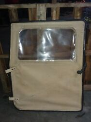 Us Military Surplus Hmmwv Left Front Drivers Side Soft Door In Tan M998 Ect.