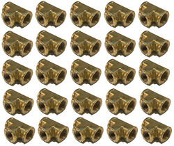 25 Pack Brass Forged Reducing Tee Fitting 3/4 X 3/4 X 1/2 Female Npt Fnpt Wog