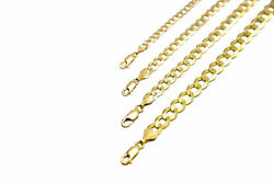 14k Solid Yellow Gold Cuban Link Chain Necklace 1.5-12mm Menand039s Women Sz 16-30
