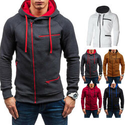 Men's Winter Warm Hoodie Hooded Sweatshirt Coat Jacket Outwear Jumper Sweater