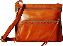 Hobo Womens Genuine Leather Vintage Cassie Crossbody Bag Clay
