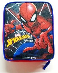 Marvel Spiderman Rectangular Insulated Lunch Box School Bag Tote New Free Ship