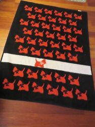 West Germany Biederlack Scottie Dog Blanket 54