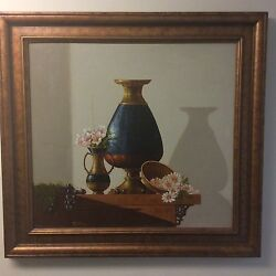 Original Signed Still Life Painting By James Zar Listed New Mexico Artist