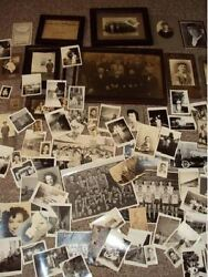 Vintage Lot Of Photographs Photo Pictures Cowboys Family School Military Child