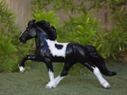 Breyer Stablemate Custom Icelandic Horse in Black and White Tobiano Pinto
