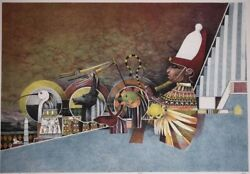 John L. Doyle Hand Signed Set Of 17 Lithos - The Great Human Race -the Builders