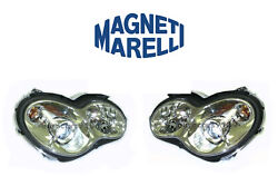 New Mercedes Set Of Left And Right Xenon Headlights Marelli Lus4052 Lus4051