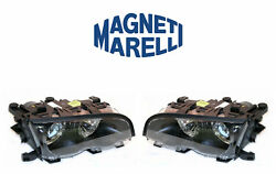 New Bmw Set Of Left And Right Xenon Headlights Marelli Lus6442 Lus6441