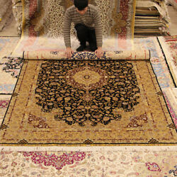YILONG 6'x9' Handmade Silk Persian Rug Home Decor Family Room Carpet QZT04A