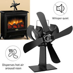 Wood Heater Eco Fan Stove Fireplace Fire Heat Powered Thermoelectric Blower