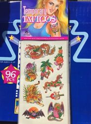 Temporary Tattoos Novelty Closeout Case Lot Of 576 Cards Christmas Gift