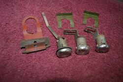 1970 Oldsmobile 98 / 88 Set/3 Door Locks And Trunk Lock With Hold Downs