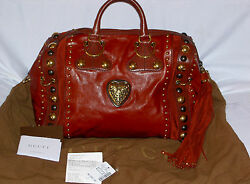 AUTH Gucci Babouska Boston RED Large-Limited Edition Tote Bag-SOLD OUT