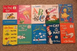 Lot Of 10 Beginner Books by Dr Seuss PD Eastman Bright And Early Books Hardcove