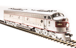 Broadway Limited 5430 HO EMD E9 A-unit CB&Q #9985-B Stainless Steel DCC Sound