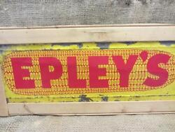 Vintage Epley's Corn Sign Antique Feed Seed Farm Cattle Livestock 9885