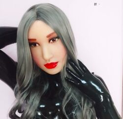 Realistic Beautiful Female Latex Medical Silicone Rubber Mask Sexy Make Up