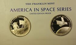 America In Space Series Apollo Xi 12 And Itos 1 Sterling Silver Proof Medals
