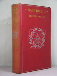 1st Us, Nada The Lily By H Rider Haggard 1892historical Romance Among The Zulu