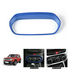 For Jeep Renegade ABS Blue Air Conditioner Adjust Panel Cover Decor Frame Trim