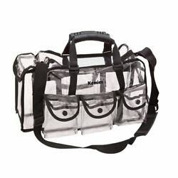 Kemier Clear Travel Makeup Bag with 6 External PocketsCosmetic Organizer Case...