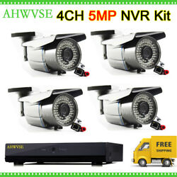 5mp Poe 4 Channel Cctv System 4ch 4mp Outdoor Ip Camera Poe Varifocal 2.8-12mm
