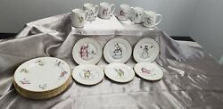Discontinued Pattern Rosanna Made In Italy Christmas Plates And Mugs