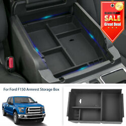 Car Interior Armrest Storage Box Pallet Center Console Tray For Ford F150 09-14