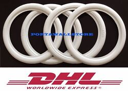 4x15 White Band Port A Wall Set 4 Fitsvw Super Beetle Bug Pre Crazy Price 213