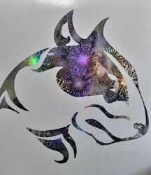 Holographic English Bull Terrier Vinyl Car Motorcycle Window Decal Sticker